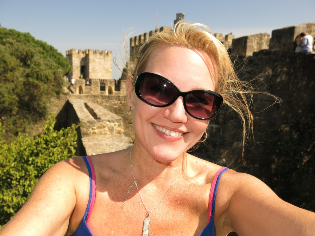 My pendant gets an airing at the Castelo de Sao Jorge in Lisbon, September 7, 2013.