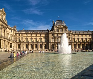 On a beautiful day, you might find me outside the Louvre--but not in it.