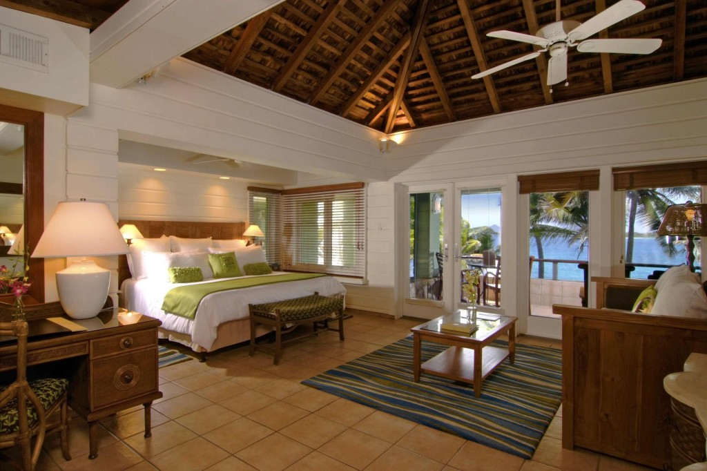 "Beachfront Junior Suite. Not a bad place to be ""marooned."" Photo courtesy Peter Island."