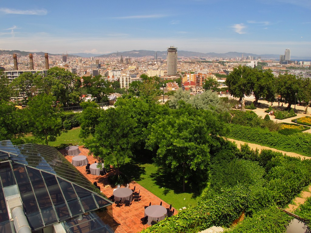 Barcelona skyline from Hotel Miramar