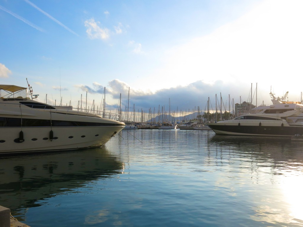 Yachts in Cannes harbor