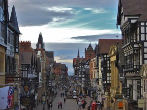 A view of Chester's Eastgate Street.