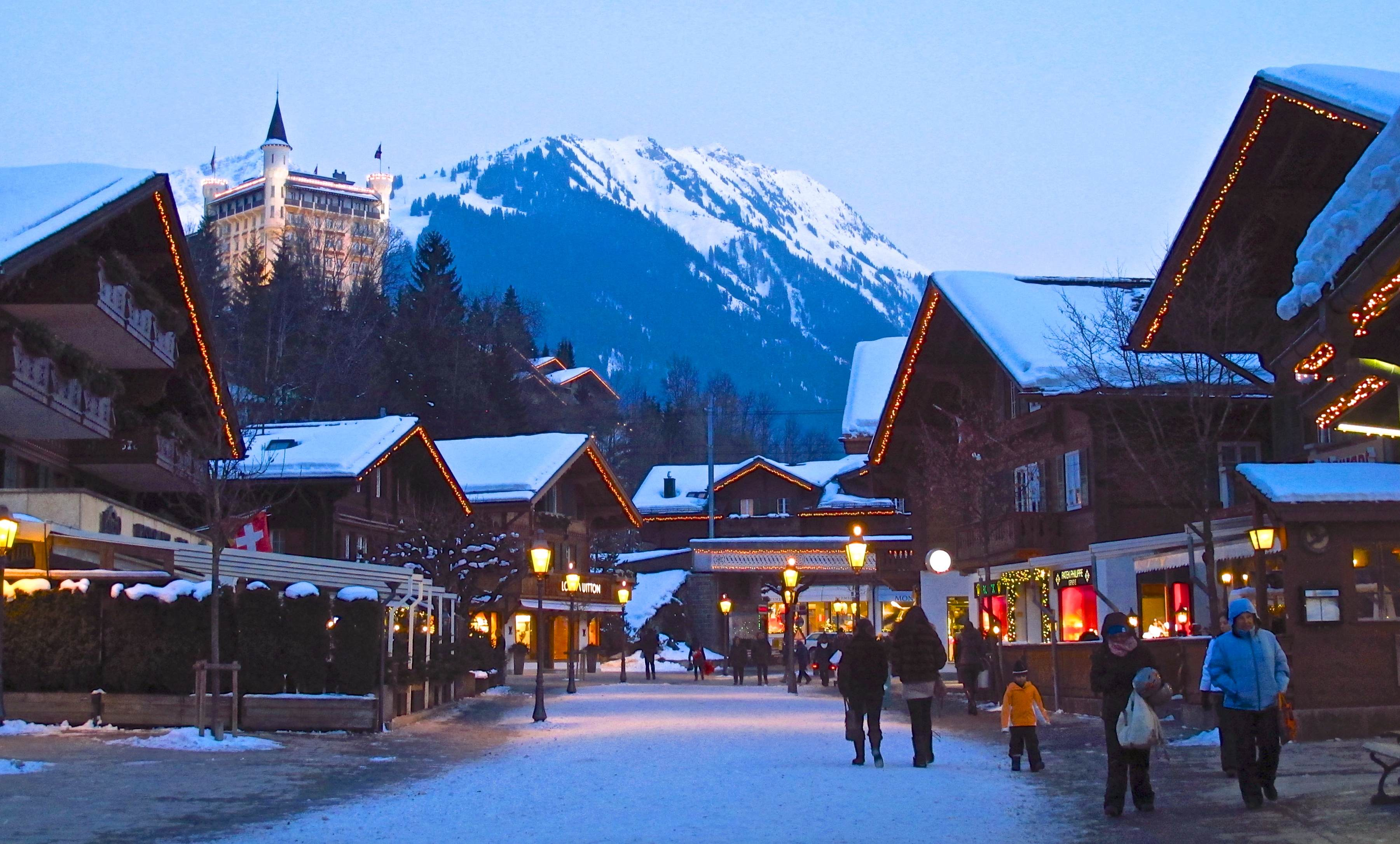 glitzy gstaad: swish swiss ski resort not just for celebrities
