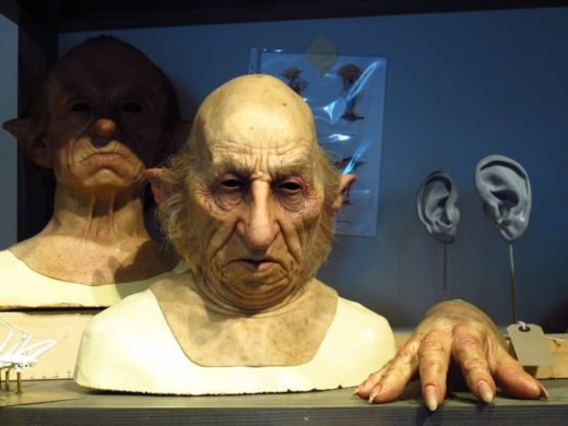 goblin heads from Harry Potter films at the Warner Bros. Harry Potter studio tour in Leavesden, near London
