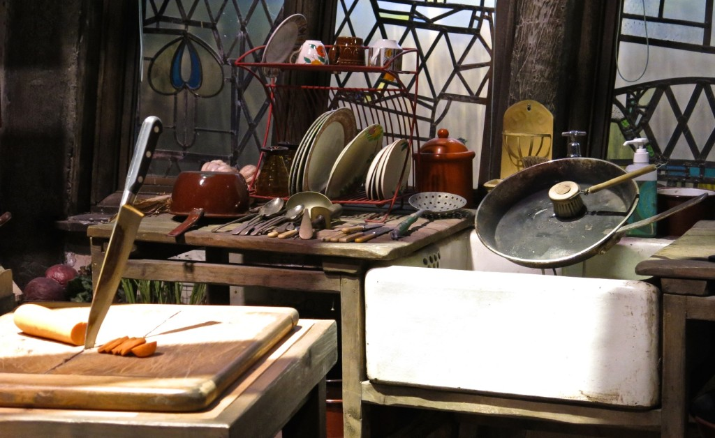 The Weasley's kitchen at Warner Bros. Studio Tour London: The Making of Harry Potter