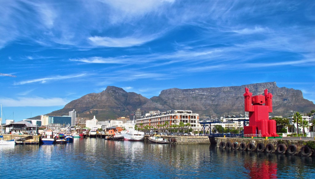 Table Mountain provides an iconic backdrop for Cape Town, World Design Capital 2014. Credit Amy Laughinghouse.