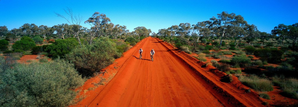 Cycling in Australia's Outback. Credit Tourism Australia.