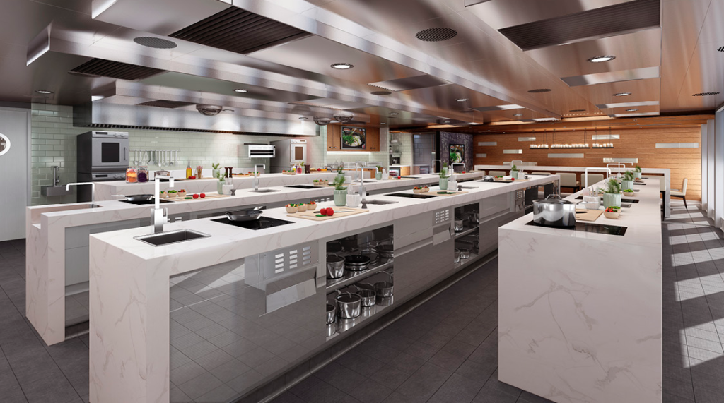 Artist's rendition of the Cookery Club. Courtesy P&O Cruises.