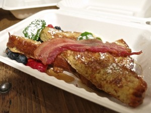 French toast with bacon.