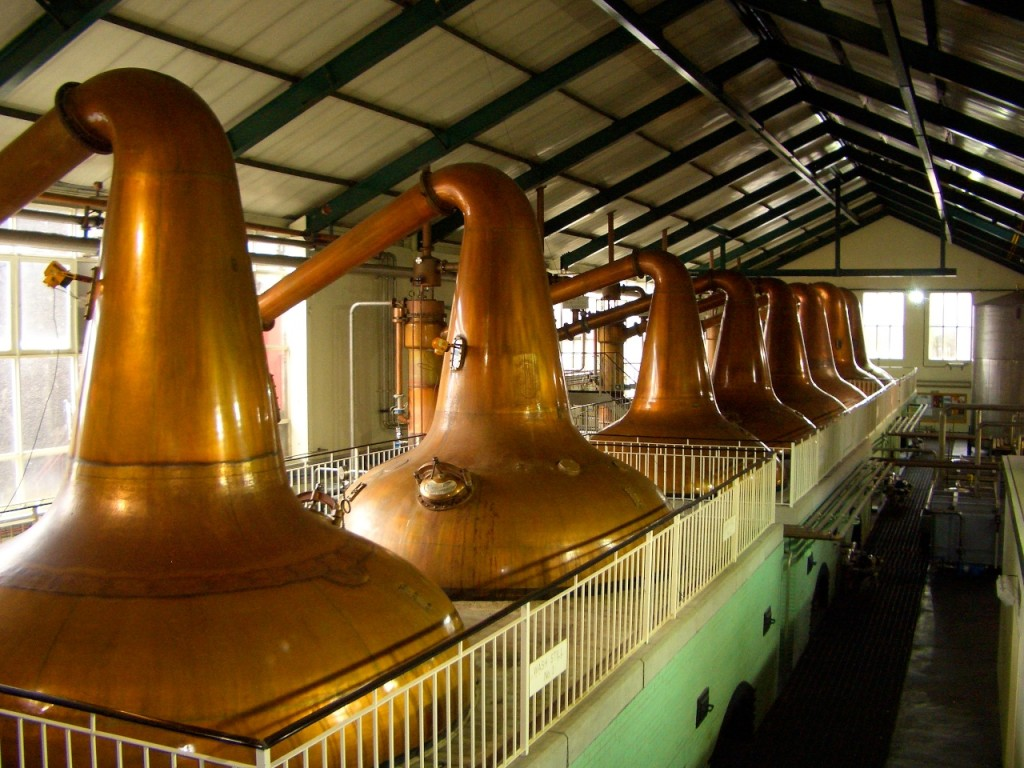 Whisky stills at Ardmore.