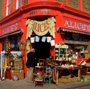 Alice's antique shop, Portobello Road