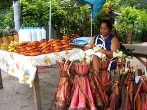 Vaitape fruit stand