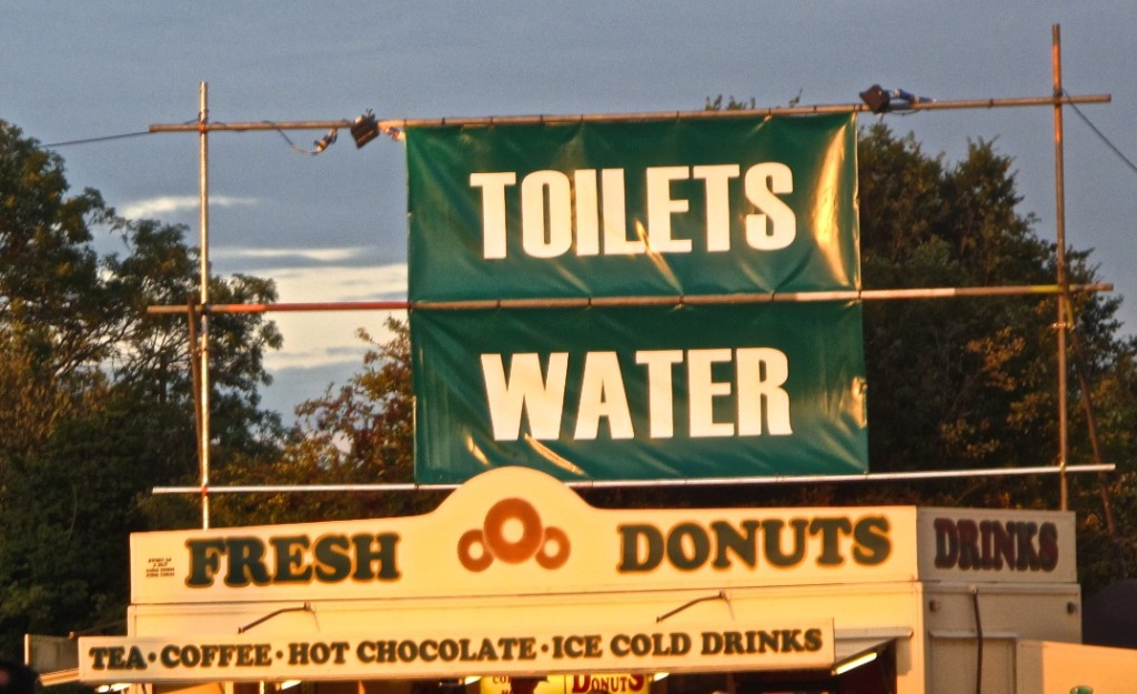 How about some toilet water to wash down those donuts, then?