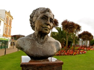 Get a gander at the author's bust on The Agatha Christie Mile