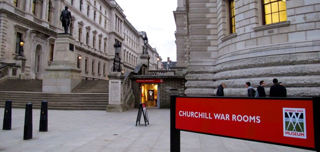 The Churchill War Rooms lie beneath the bulwark of Whitehall.