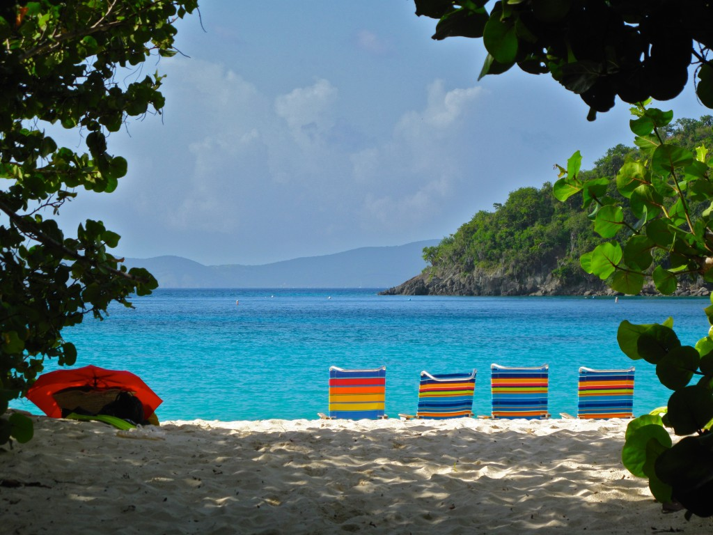38) Back on St. John...One of our favorite beaches, Hawks Nest.