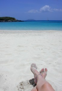 Lounging at Cinnamon Bay.
