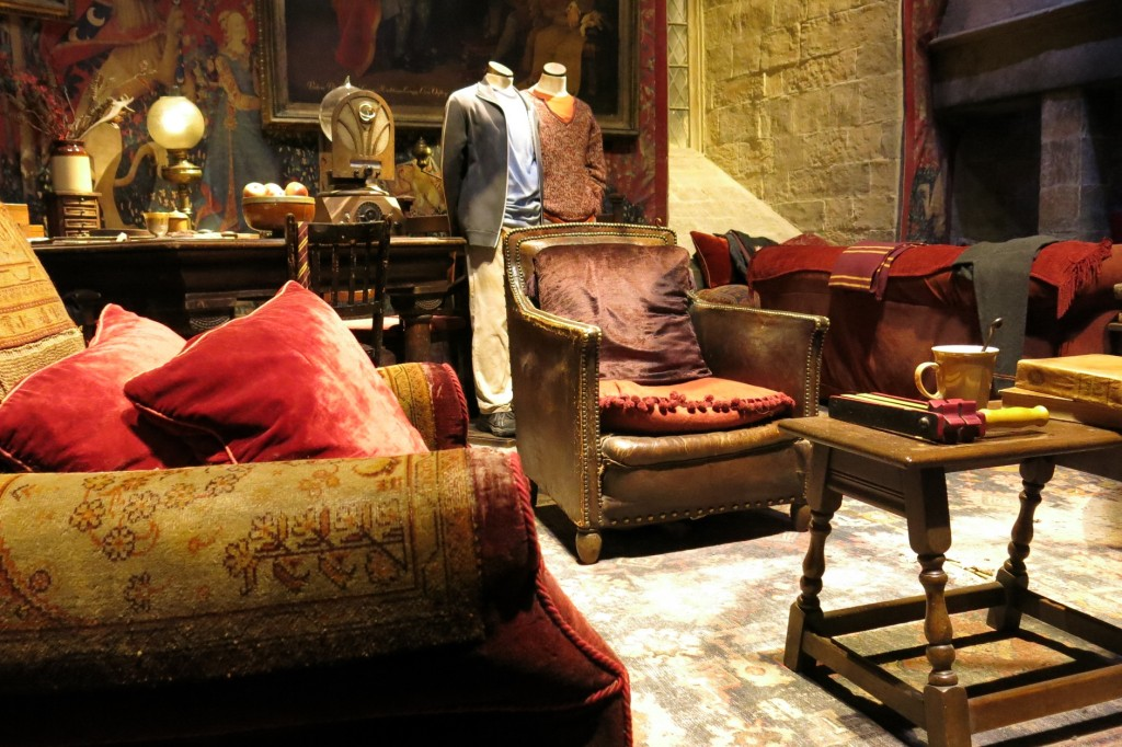 Gryffindor Common Room at Harry Potter Studio Tour at Warner Bros. Studio in Leavesden, near London