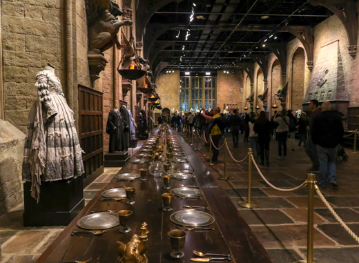 The Great Hall at Warner Bros. Studio Tour London: The Making of Harry Potter