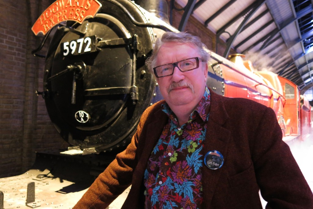 "Mark Williams, also known as ""Mr. Weasley,"" with the Hogwarts Express"