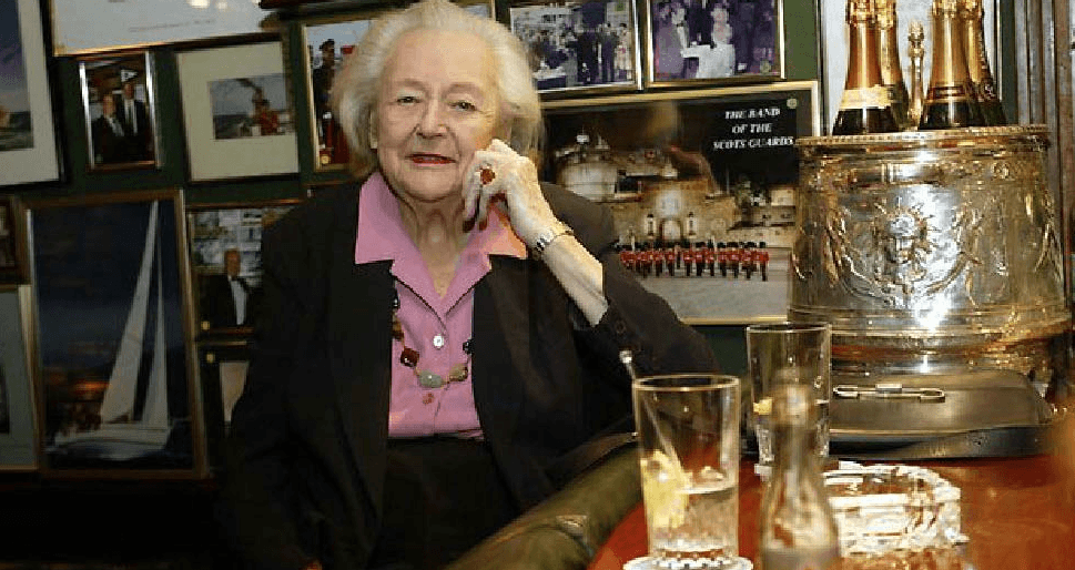 "Nancy Wake, ""The White Mouse,"" pictured at The American Bar. Courtesy The Stafford London."