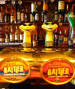 Cornish Rattler on tap at the Turk's Head pub on St. Agnes, part of England's Isles of Scilly.