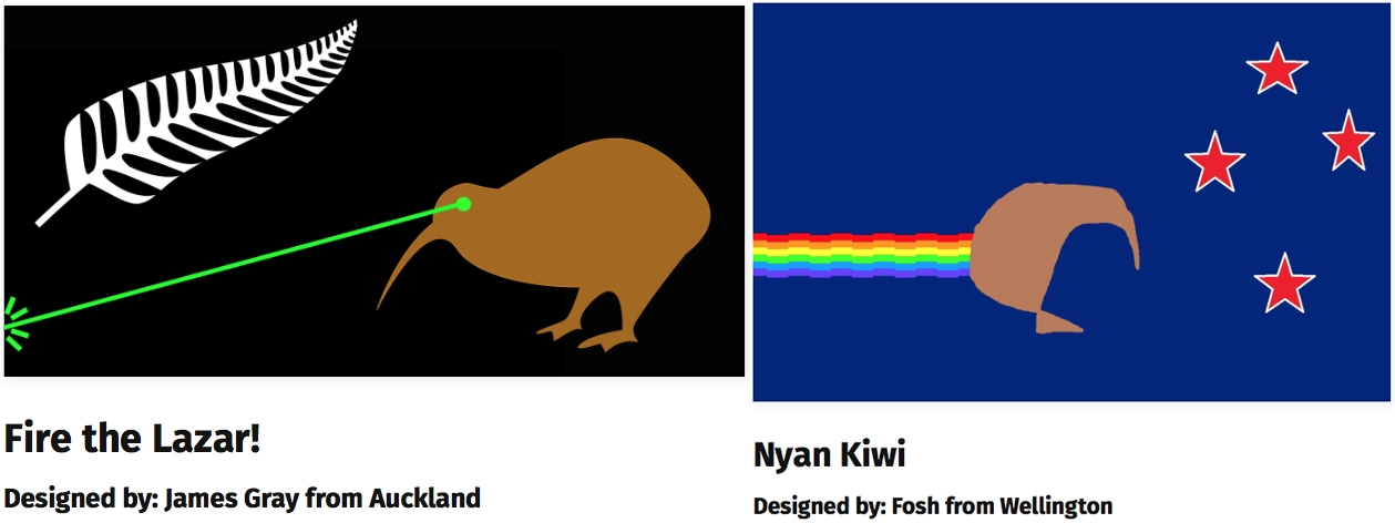 New Zealand S Flag Apparently Will Not Be A Kiwi Shooting Lasers