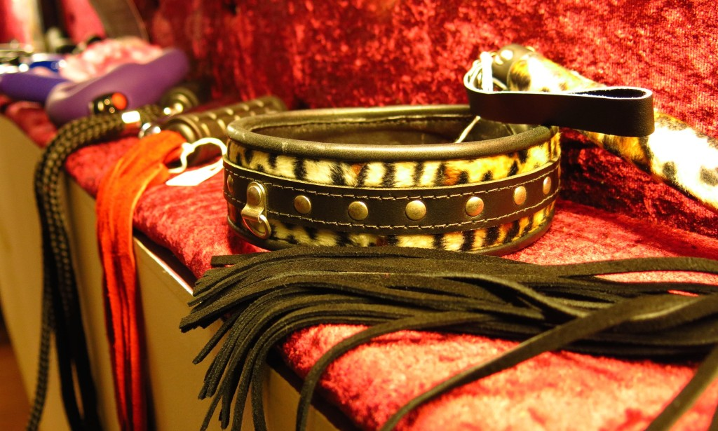 Collars in Stout, which sells sex-related accessories in Amsterdam