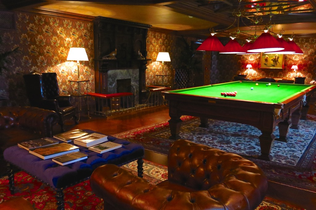 Ashford Castle billiards room
