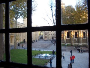 Tower of London Beauchamp Tower view of Tower Green