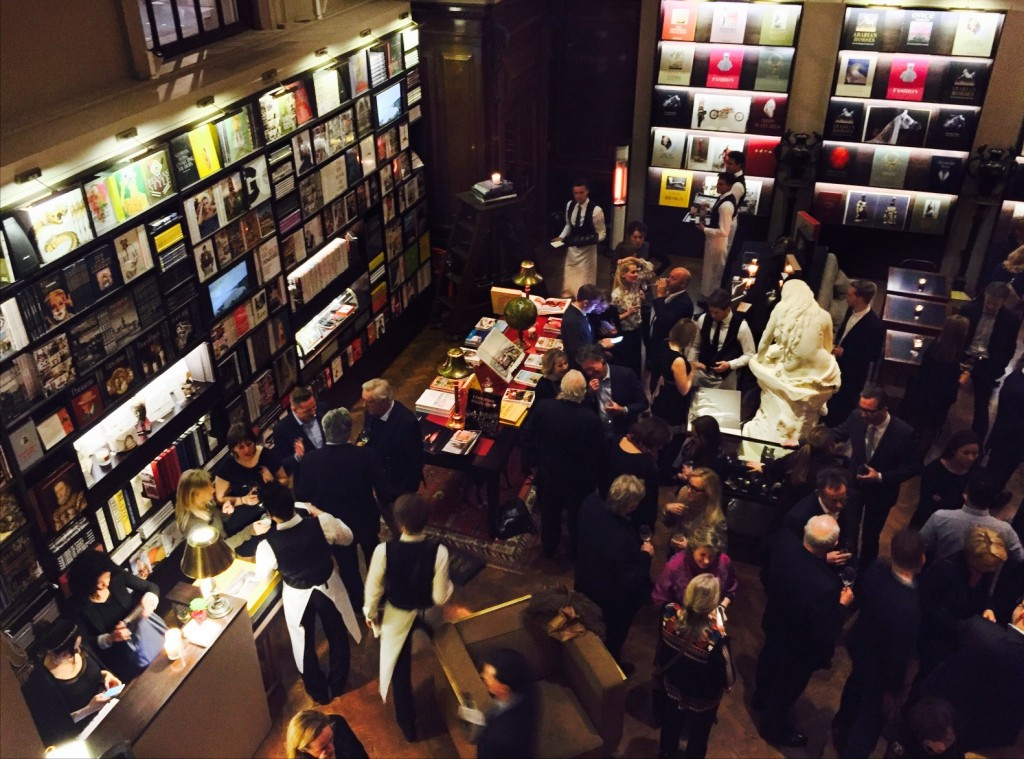 crowd of people viewed from above at Maison Assouline, 196A Piccadilly, London