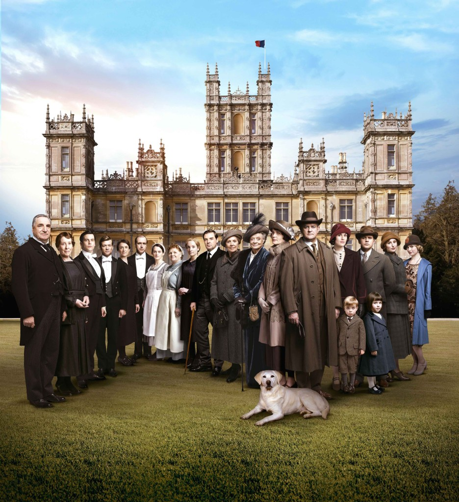 Downton Abbey cast (C) Nick Briggs/Carnival Films 2014 for MASTERPIECE