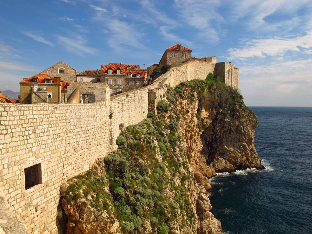 In Dubrovnic, you can walk the entire city wall--about a mile--for views of the Adriatic and across the red-tiled roofs of the town.