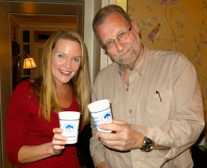 "Travel writer Amy Laughinghouse with ""The Travel Detective,"" Peter Greenberg"