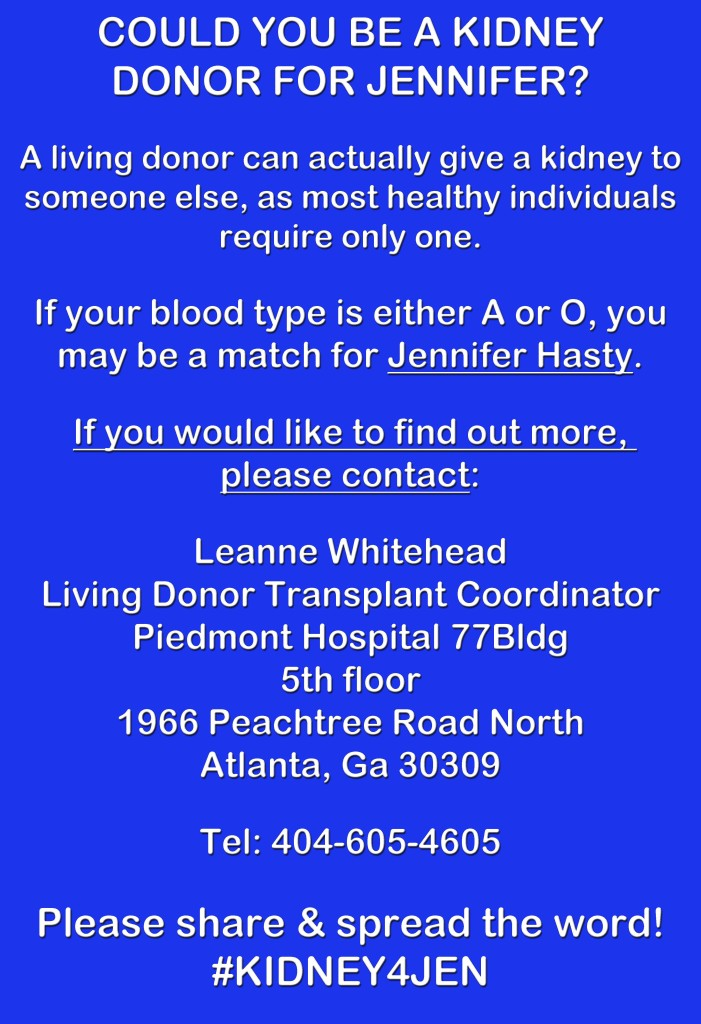 KIDNEY4JEN donation information