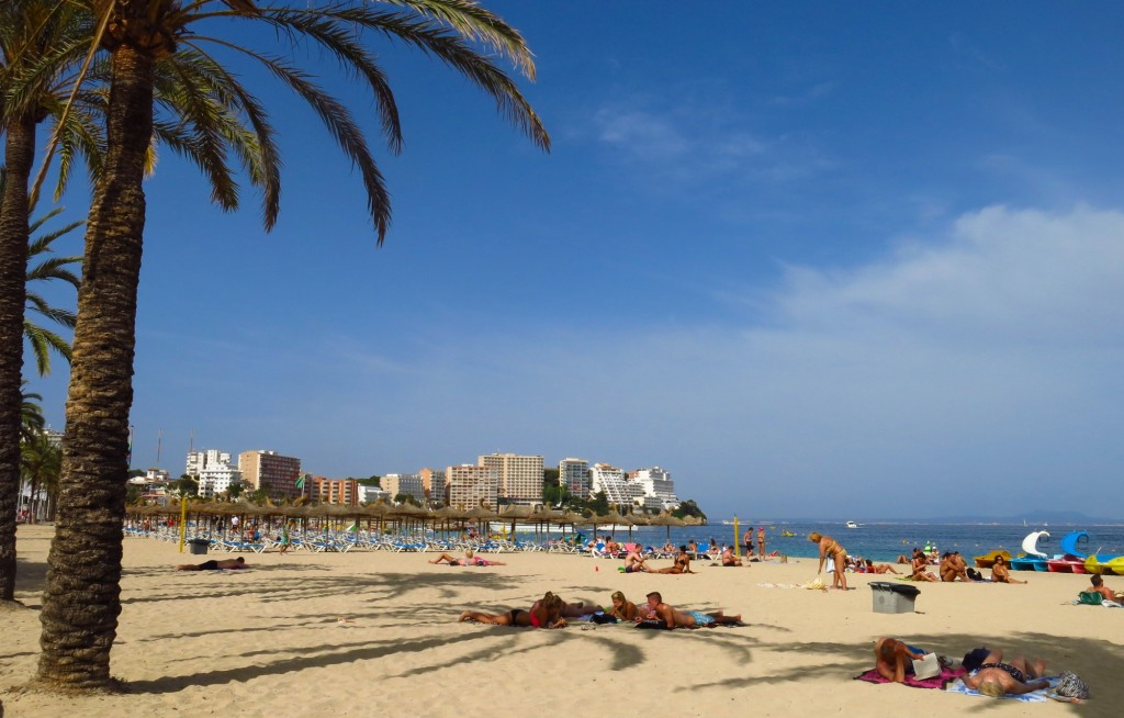 Magaluf beach on Mallorca