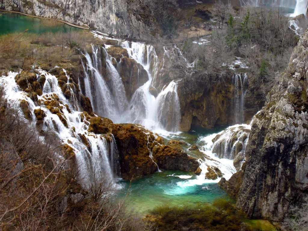Sixteen lakes, filled by cascading waterfalls, accentuate the beauty of the virgin forest at Plitvice Lakes National Park in central Croatia.