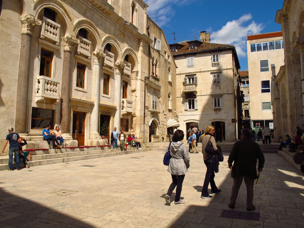 This sunny square in Diocletian's Palace is a popular meeting spot in Split.