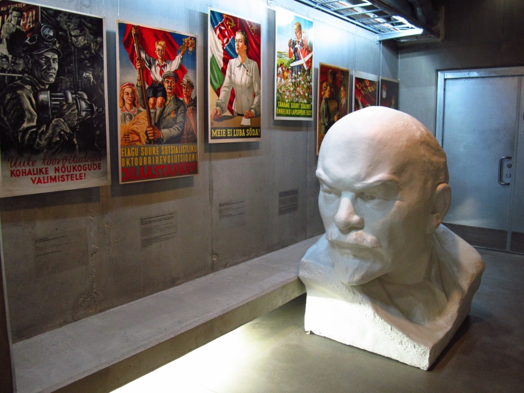 A bust of Vladimir Lenin, looking a bit like Spock with a goatee, resides in the basement of The Museum of Occupations, which displays relics from the Nazi and Soviet regimes which once occupied the city of Tallinn. Copyright Amy Laughinghouse.