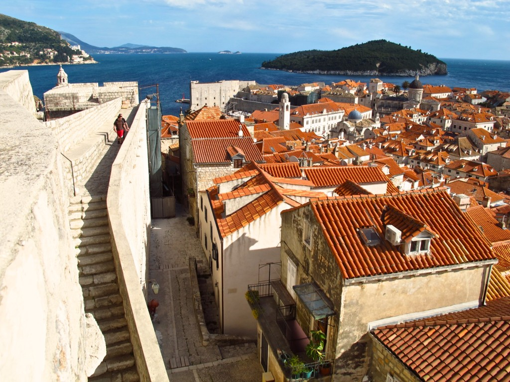 A view from Dubrovnik's city walls