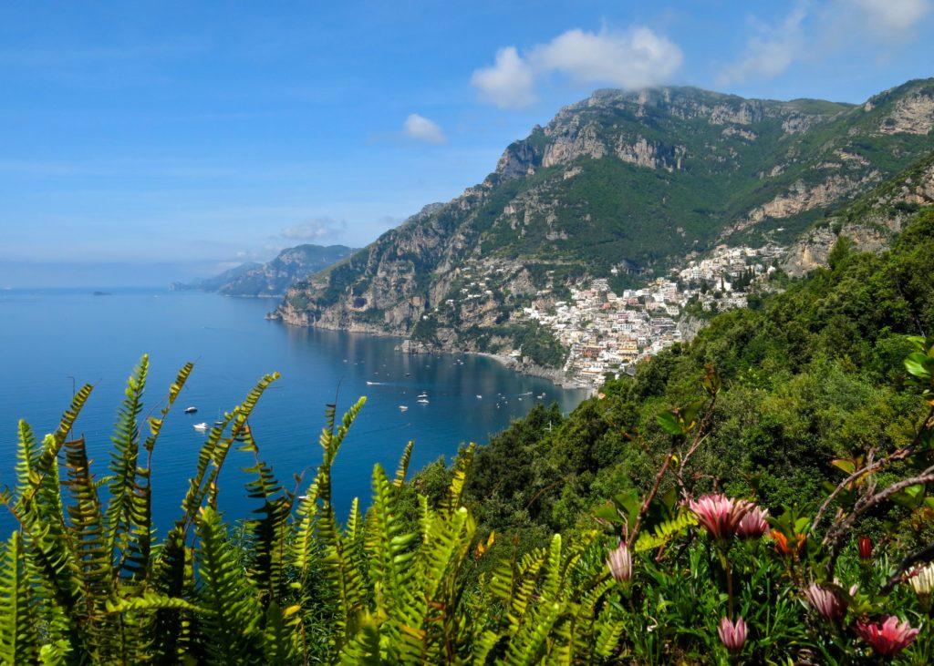 View of Positano from Rifugio degli Dei
