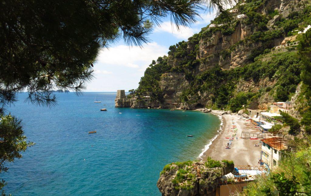 Spiaggia di Fornillo beach in Positano
