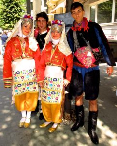 Young people in Traditional Turkish dress