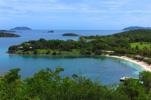 A view of St. John's Caneel Bay resort, founded by philanthropist Laurance Rockefeller, who was instrumental in founding the Virgin Islands National Park. Copyright Amy Laughinghouse.