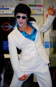zombie Elvis on London's Tube