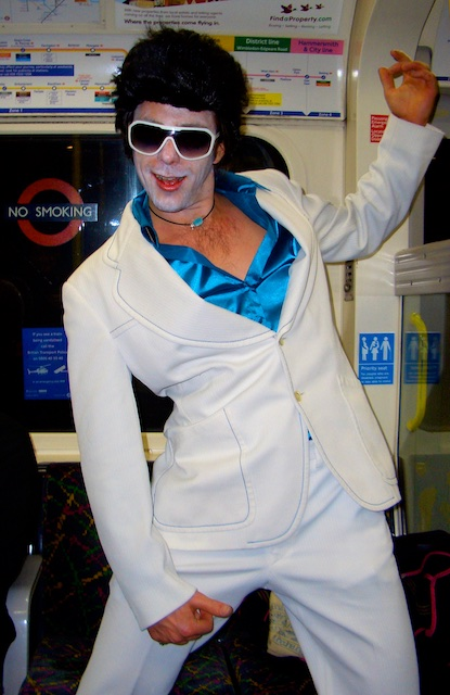 zombie Elvis on London's Tube