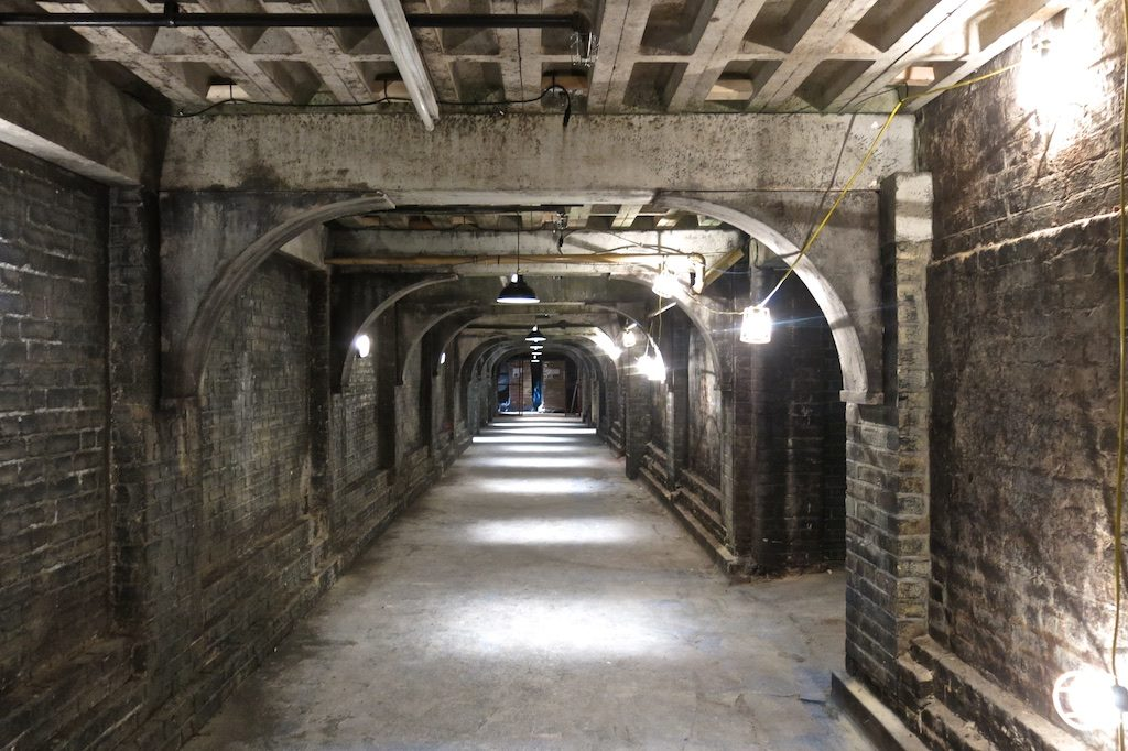 Underground tunnel from the set of The Royals