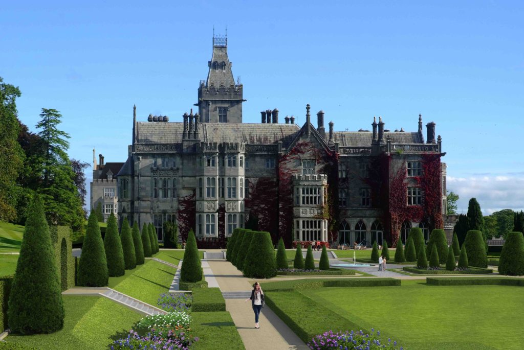 Rendering of Adare Manor, reopening in September following a multi-million dollar renovation. Courtesy of Adare Manor.