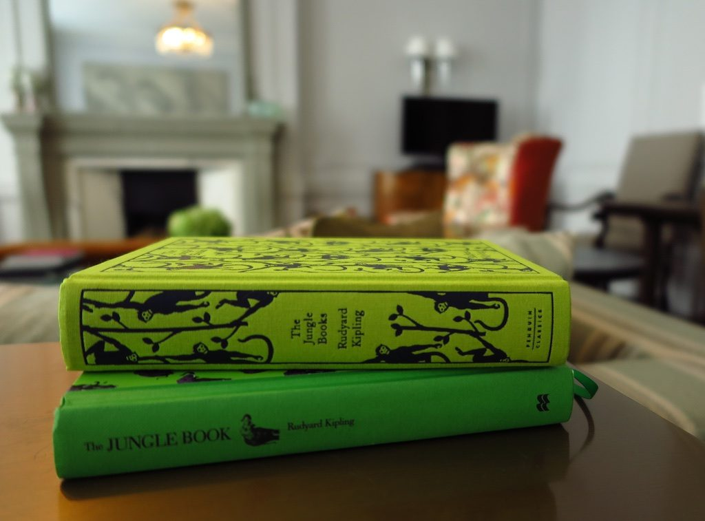 Copies of The Jungle Book in the Kipling Suite at Brown's Hotel. Copyright Amy Laughinghouse.