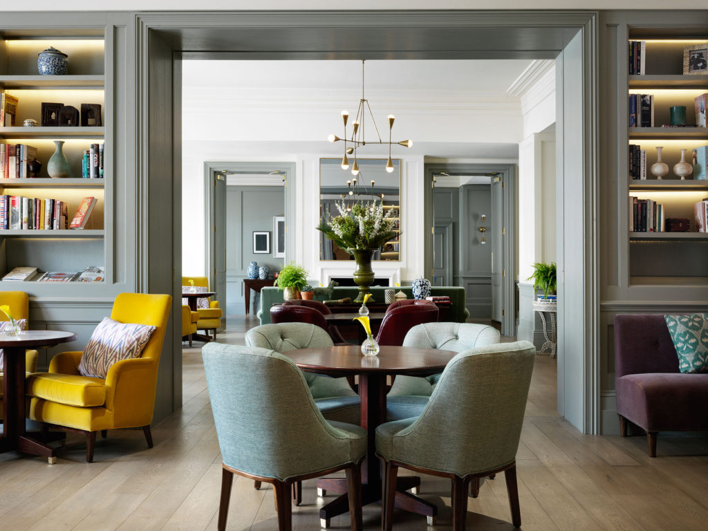 The Town House, the new restaurant at The Kensington hotels, has the feel of a private club or a comfortable residence. Courtesy The Kensington, The Doyle Collection.